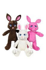 Bunny - assortment of three(6 PCS = 1 PINK, 4 BROWN, AND 1 WHITE)