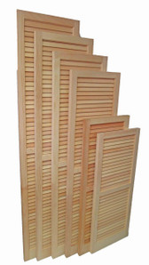 Louvered Wooden Shutter Pair w/ WoodLife Treatment