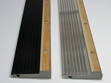 Adjustable exterior aluminum and all oak door threshold total wood store for Best finish for exterior wood threshold