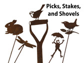 Rusty Garden Decor - Picks, Stakes, & Shovels