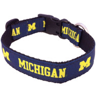 Michigan Wolverines  NCAA Dog Collar All Star Dogs  3 sizes