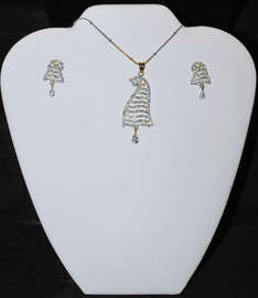 Designer Faux Diamond Necklace Set #D112