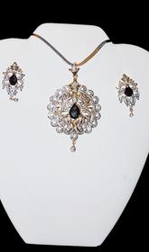 Designer Faux Diamond Necklace Set #D125