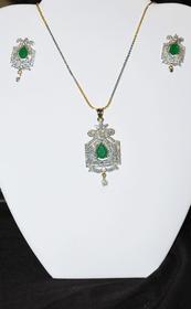 Designer Faux Diamond Necklace Set #D130
