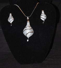 Designer Faux Diamond Necklace Set #D116