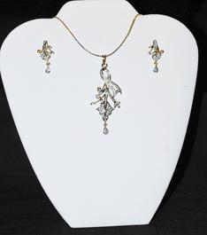 Designer Faux Diamond Necklace Set #D120
