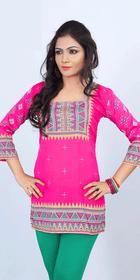 Silky Ethnic Kurti Tunic #DK653
