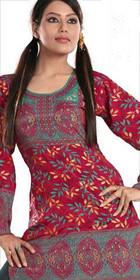 Silky Ethnic Kurti Tunic #DK665