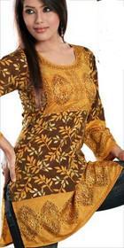 Silky Ethnic Kurti Tunic #DK666