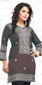 Silky Ethnic Kurti Tunic #DK772