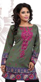 Silky Ethnic Kurti Tunic #DK776
