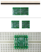 Schmartboard|ez .635mm Pitch SOIC to DIP adapter (204-0013-01)