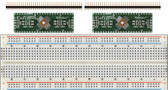 Schmartboard 2 Schmartboard|ez .5mm Pitch, 48 Pin QFP/QFN to DIP Adapter plus a Free Breadboard (204-0014-31)