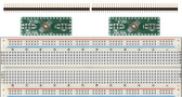 Schmartboard 2 Pack of Schmartboard|ez .5mm Pitch, 32 Pin QFP/QFN to DIP Adapter Plus a Free Breadboard (204-0017-31)