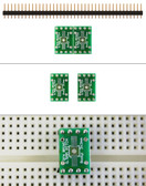 Schmartboard|ez 0.5mm Pitch, 8 Pin DFN to DIP adapter (204-0021-01)