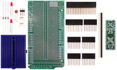 Schmartboard|ez .5mm Pitch 12 & 24 Pin QFP/QFN to DIP adapter Arduino Mega Shield Kit (206-0001-15)