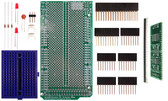 Schmartboard|ez 0.5mm Pitch 16 & 20 Pin QFP/QFN to DIP adapter Arduino Mega Shield Kit (206-0001-16)