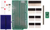 Schmartboard|ez 0.5mm Pitch 10 Pin DFN to DIP adapter Arduino Mega Shield Kit (206-0001-22)