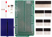 Schmartboard|ez 0.5mm Pitch 16 Pin DFN to DIP adapter Arduino Mega Shield Kit (206-0001-29)