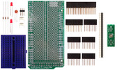 Schmartboard|ez 0.5mm Pitch 40 Pin QFP/QFN to DIP adapter Arduino Mega Shield Kit (206-0001-44)