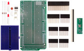 Schmartboard|ez 0.5mm Pitch 44 Pin QFP/QFN to DIP adapter Arduino Mega Shield Kit (206-0001-45)