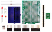 Schmartboard|ez 0.5mm Pitch 8 Pin DFN to DIP adapter Surface Mount Arduino Uno Shield Kit (206-0002-21)