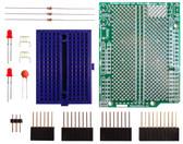 Schmartboard|ez 0.5mm Pitch 16 Pin DFN to DIP adapter Arduino Uno Shield Kit (206-0002-28)