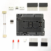 Schmartboard|ez 0.5mm Pitch SOIC Surface Mount Prototyping shield for Arduino Uno (With Components) (206-0007-02)