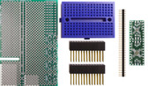 Schmartboard|ez .5mm Pitch, 16 & 20 Pin QFP/QFN Raspberry Pi Add-on Board Kit (710-0010-16)