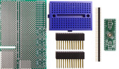 Schmartboard|ez .5mm Pitch, 32 Pin QFP/QFN Raspberry Pi Add-on Board Kit (710-0010-17)