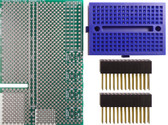 Schmartboard|ez 0.65mm Pitch 16 Pin QFP/QFN Raspberry Pi Add-on Board Kit (710-0010-27)