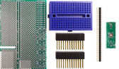 Schmartboard|ez 0.5mm Pitch 44 Pin QFP/QFN Raspberry Pi Add-on Board Kit (710-0010-45)