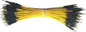 """Schmartboard Qty. 100 5"""" Yellow Male Jumpers (920-0098-01)"""