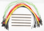 "Schmartboard Qty. 10 of each White, Yellow, Red, Black, & Green 12"" Female Jumpers and 200 Headers (920-0155-50)"