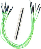"Schmartboard Qty. 10 12"" Green Female Jumpers and 40 Headers (920-0020-01)"