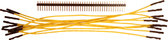 """Schmartboard Qty. 10 7"""" Yellow Female Jumpers and 40 Headers (920-0107-01)"""