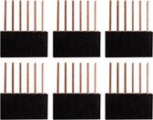 Qty. 6, Six Pin Stackable Headers for Arduino (920-0085-01)