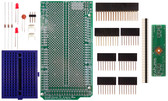 Schmartboard|ez 0.5mm Pitch 64 Pin QFP/QFN to DIP adapter Arduino Mega Shield Kit (206-0001-18)