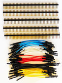 "Qty. 10 of Yellow, Blue, Red, Black & White 3"" Female Jumpers and 200 Headers (920-0169-50)"