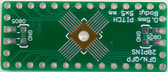 2 Schmartboard|ex .5mm Pitch 28 Pin QFP/QFN to DIP Adapters With a Breadboard (204-0025-31)
