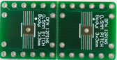 2 SCHMARTBOARD|EX .5MM PITCH 12 PIN DFN TO DIP ADAPTERS WITH A BREADBOARD (204-0023-31)