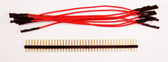 "Schmartboard Qty. 10 Red 5"" Female Jumpers and 40 Headers (920-0182-01)"