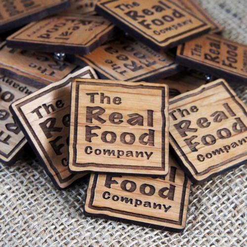 Engraved Wooden Badges