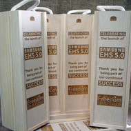 Wooden Engraved Wineboxes - ideal corporate gifts