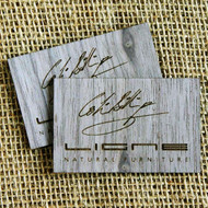 Wooden Engraved Business Cards - walnut wood veneer business cards