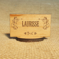 Small, self standing wooden sign - ideal for place settings