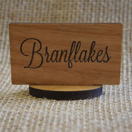 Small, self standing wooden sign - ideal for breakfast buffets
