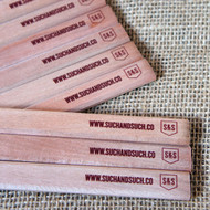 Printed carpenters pencils - ideal promotion items.