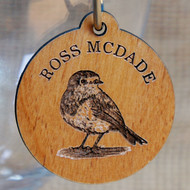 Engraved wooden tag place settings and favours - your guests receive a personalised favour to take home.