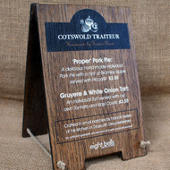 Mini Wooden Table Top A Board with double sided printed graphics - ideal for pub and hotels